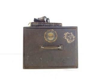 Vintage Industrial Metal File Cabinet, Industrial Storage