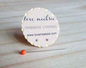 1.5mm extra tiny micro earrings, teeny tiny stud earrings, sterling silver tiny studs, tiny clear gem stud earrings, tiny cartilage earrings