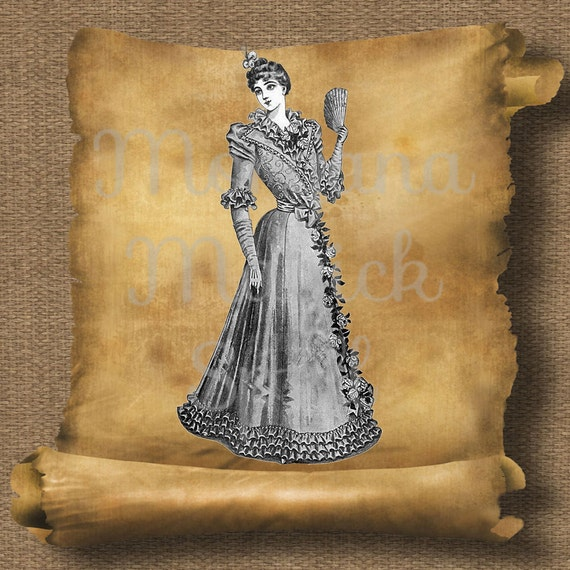 Victorian Woman Royalty Free Clipart
