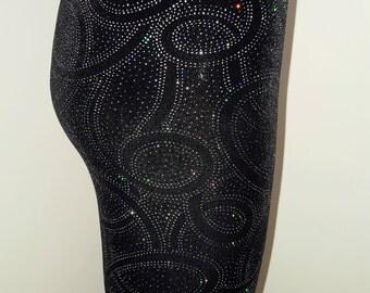 Ladies Limited Edition - Glitter Swirl Velvet Leggings - pick your size