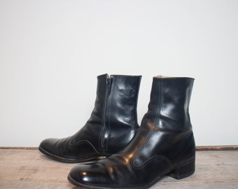 13 A | Men's Tall Florsheim Dress Boots w/ Side Zip