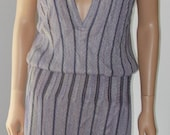 Lavender Black Striped Knit Dress Missoni for Bloomingdales Made in Italy Vintag