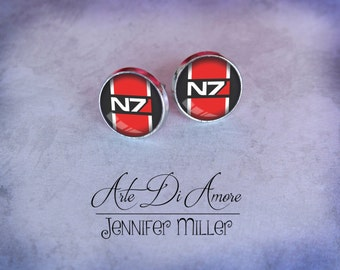 N7 Dangle or Stud Earrings