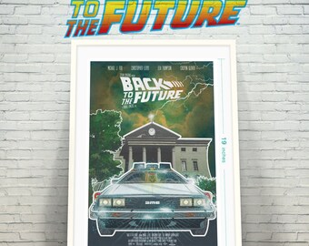 Alternate Movie Poster Back to the Future Time Machine Delorean Fine Art Print / Geekery / Retro Movie Poster / Fan Art