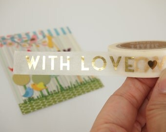 Golden With Love Washi Tape (10M)