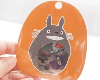 Totoro Flake Stickers (60 pcs) - Orange