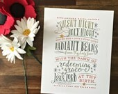 ON SALE - Silent Night, Holy Night Print - Christmas / Holiday Print