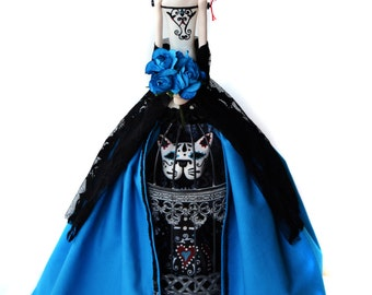 Day of the Dead Doll - Mask Art Doll - Dia de los Muertos - Venetian Art Doll