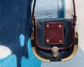 Vintage Small Shoulder Bag with Gold Details