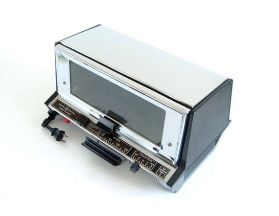 Toaster Oven Chrome GE General Electric Toast-R-Oven A12T93B Vintage ...