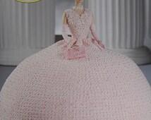 Annie's Attic Crochet Bed Doll Pattern First Ladies of America Mamie Eisenhower Barbie Doll Dress
