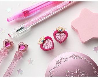 SMALL Chibimoon Compact Stud Earrings Sailor Moon Inspired for Mahou Kei & Magical Girl Fashion