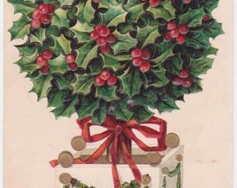 Signed. Vintage English Christmas Postcard -- 1910?