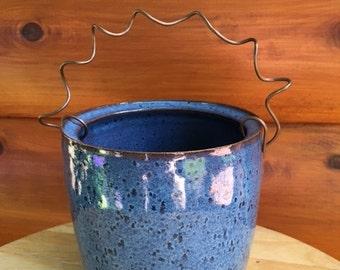Ceramic Blue Planter