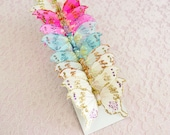 NEW ITEM!! Rainbow Confetti Glitter Feather Butterflies 12 Monarch Bird Feather Butterflies 3 inch wingspan size / More colors available