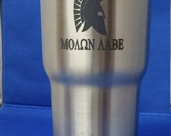 Molon Labe Laser Engraved, 30 oz  RTIC Tumbler Stainless Steel