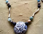 Ceramic Wavey Beads Necklace