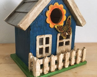Sunshine and Butterfly Birdhouse