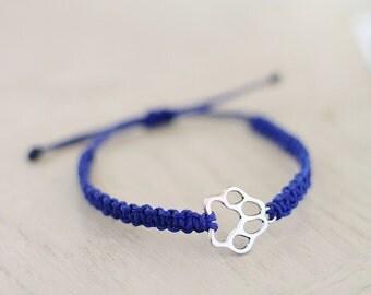 Paw Print Bracelet - Animal Hemp Bracelet - Hemp Jewelry