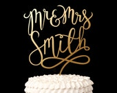 Wedding Cake Topper - Mr and Mrs Cake Topper - Custom Cake Topper for Wedding Cake - Last Name - Joyful Collection