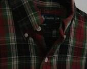 Vintage Ralph Lauren Plaid Button Down Medium