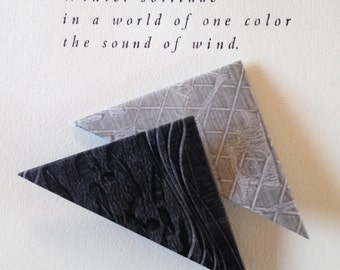 Origami Page Corner Bookmarks-Black & Silver