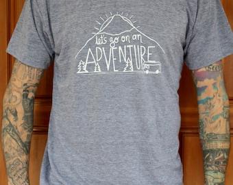 Adventure - TRI-BLEND Mens/Unisex T Shirt - Hand Screen Printed