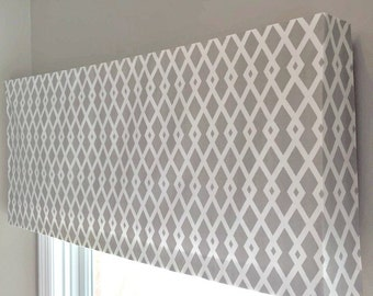 Custom Made to Order Soft Faux Fake Cornice Valance Use Your Fabric- Includes Mounting Board