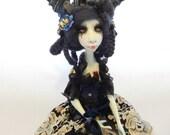 RESERVED FOR S - Ooak Art Doll  - Clotilde the vampire.Handmade