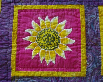 Batik Sunflower Quilt