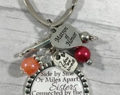 Personalized MATRON of HONOR Gift, Bridesmaid Key Chain, Sister of the Bride, Sister Gift, Best Friend Bracelet, Bachelorette Party Gift