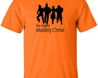 Wizard of Oz T-Shirt Dorothy Tin Man Scarecrow Cowardly Lion Classic Movie Motley Crue