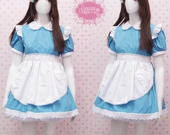 Alice in Wonderland Maid Dress For Kids, Girls, and Women - Simple Alice in Wonderland Costume - Maid Costume - Kawaii Clothing