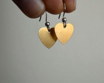 Heart earrings, Woman handmade jewelry, Heart pendant, Unique woman earrings, metal jewelry