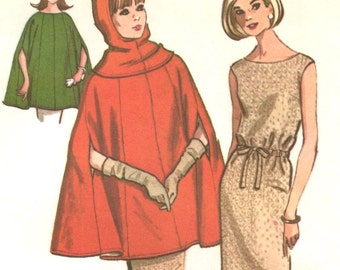 Courrèges-look poncho, hood & dress pattern -- McCall's 7884