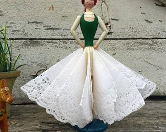 Vintage Swedish Napkin Doll - Swedish Folk Art