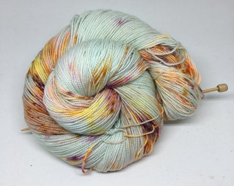 leaky love - Hand Dyed Yarn - Twisted Spark Sock - Superwash 75/20/5 Merino Nylon Stellina - {leaky love}