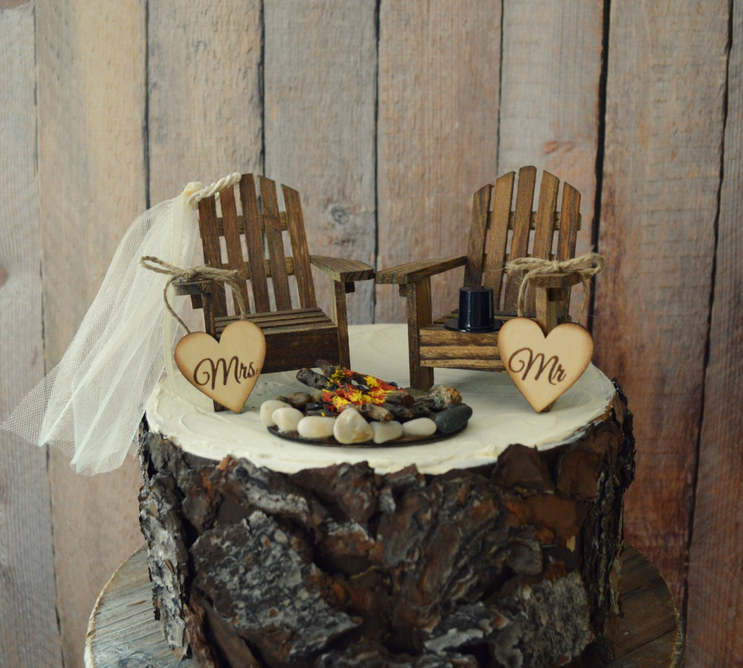 Rocking Chair Cake Topper Retirement