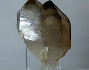 Collectible Quartz Crystal 2.5 inch Fine Gemmy Smoky Citrine Terminated Natural Tinned Quartz Crystal w/ a Phantom From Minas Gerais, Brazil