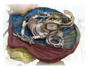 Trinket Dish, Ceramic bowl, Decorative Pottery, Handmade Trinket Dish,decorative ceramic,  shell dish - # 63