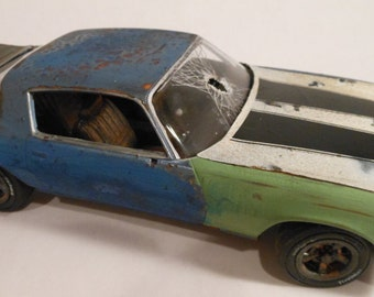 Rusted Scale Model Camaro Car in Blue from Classicwrecks