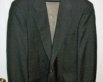 Vintage Men's Dark Brown Sport Coat Blazer by John Alexander Size 42R Only 5 USD