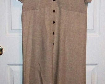 Vintage Ladies Beige Linen Dress by Mark Fore & Strike Size 10 Only 10 USD