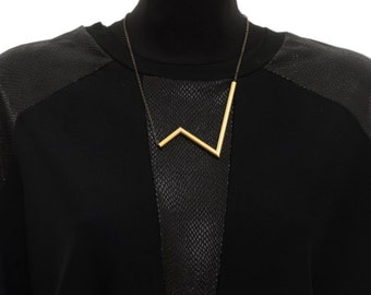 Lifeline Necklace, Bib Necklace, Statement Necklace, Gold Necklace, Necklaces For Women, NB023