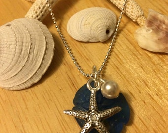 Sea glass pendant - chain not included