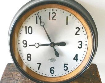 RARE 1950's American Industrial Wall-Mount Public School Pneumatic Slave Analog Clock