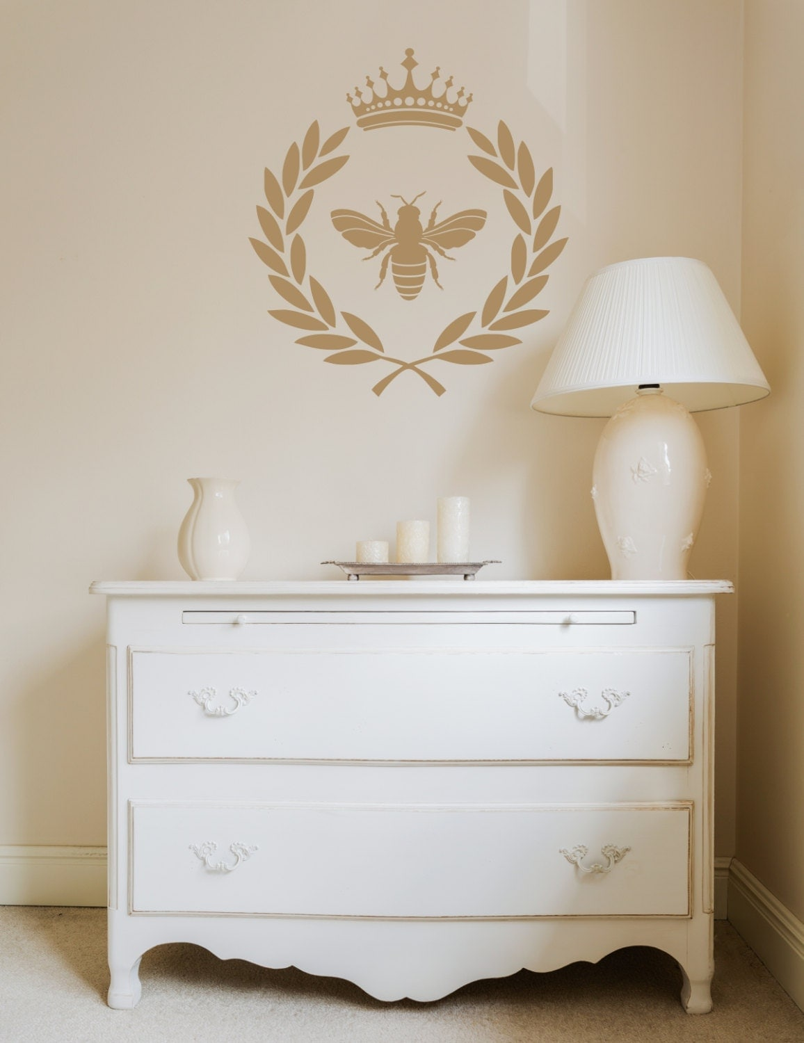 Laurel Wreath Crown Decal French Country Decor