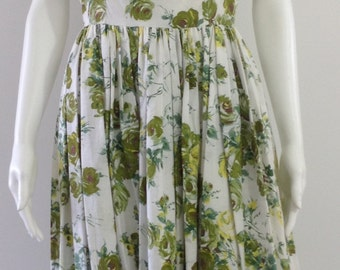 Beautiful Roses 1950's Cotton Dress