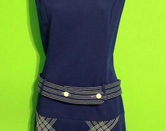 Vintage 60s Womens Mod Mini Dress Costume Go Go Dancer Twiggy Size Small Medium