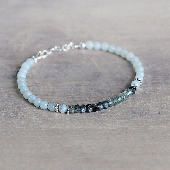 Moss Aquamarine Bracelet - March Birthstone Bracelet